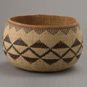 Hupa Indian basket  : darli does this mean we can have sack rope baskets made of varying rope thickness and also baskets made from gumpole twigs treated with sandalwood ,oxides or cobalt.we have to design a genuefowl feather parker pen