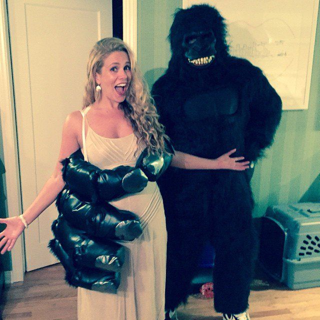 Pin for Later: Holt euch bei den Stars Inspiration für euer Halloween-Kostüm CaCee Cobb und Donald Faison als King Kong und Ann Darrow