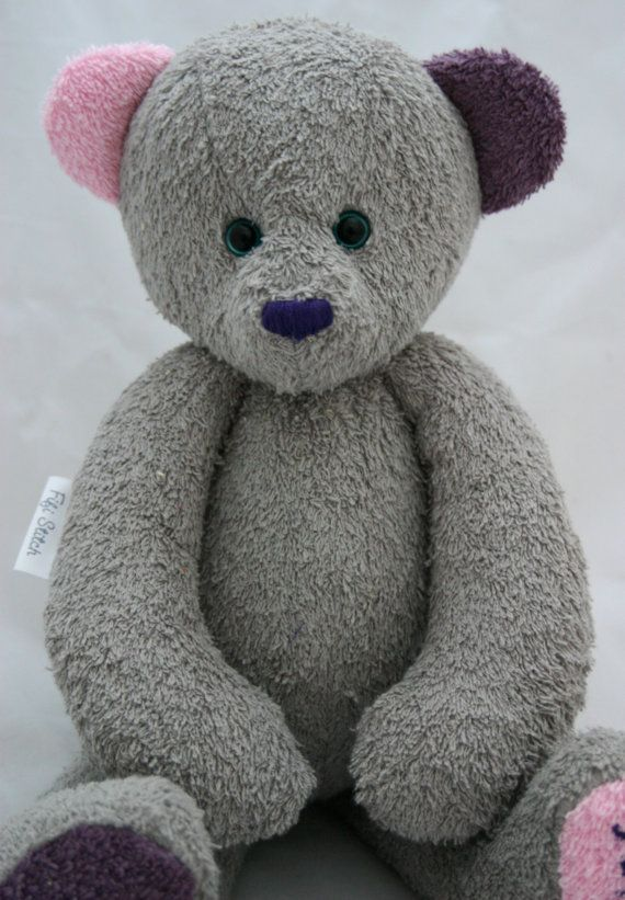 Handmade OOAK customized artist Grey Pink and Purple by FifiStitch, £83.75