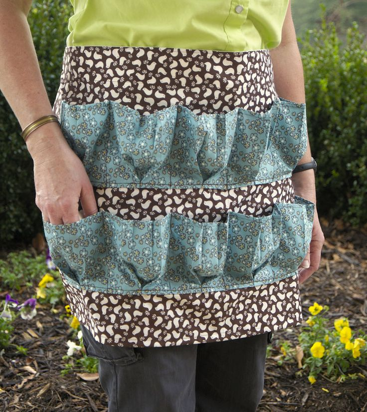 12 Pocket Egg Gathering Apron Brown Aqua Handmade Collecting Basket | eBay