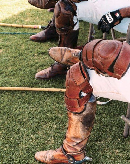 Polo gear. - where Rowling got the inspiration for Quiddich gear. This makes so much sense.