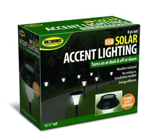 Front-Yard-Lights-Solar-Powered-LED-Set-of-8-Lawn-Landscaping-Garden-Border