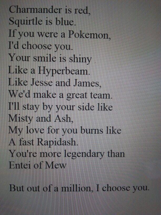 Pokemon poem for the pokemon lovers.