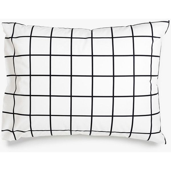 Unison Grid Black Pillowcases (443.055 IDR) ❤ liked on Polyvore featuring home, bed & bath, bedding, bed sheets, fillers, pillow, black pillow cases, black modern bedding, black and white pillow cases and modern bedding