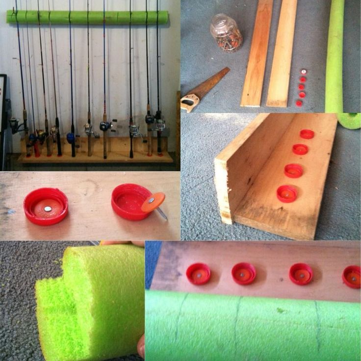 Fishing rod storage. Made in 30 minutes!
