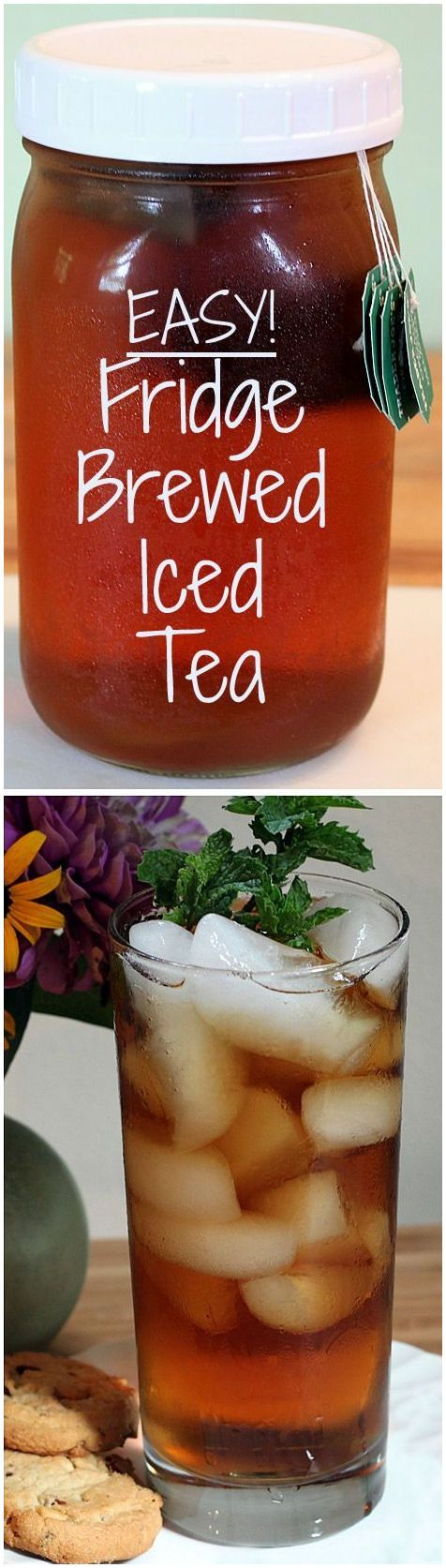 DIY Refrigerator Iced Tea // no boiling, easy & healthy #energy