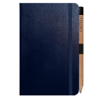 Image of Promotional Castelli Paros Pocket Ruled Notebook With Retro Look Pencil