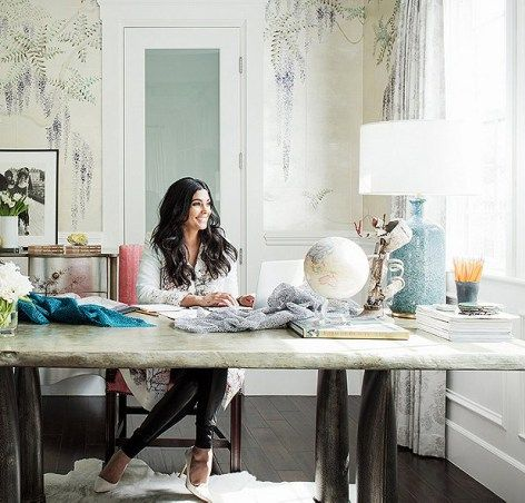 Home Tour  Rachel Roy s Elegant Home Office338 best Offices images on Pinterest   Office spaces  Office ideas  . Home Fashion Design. Home Design Ideas