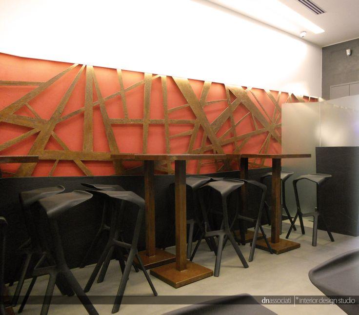 REALIZZAZIONE LOCALE COMMERCIALE _ PIRO' _ NAPOLI #bar #lounge #aperitf #food #pirò #Napoli #table #snack #corten