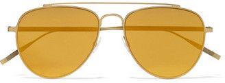 Tomas Maier - Aviator-style Gold-tone Mirrored Sunglasses - Yellow #sunglasses #womens #summer