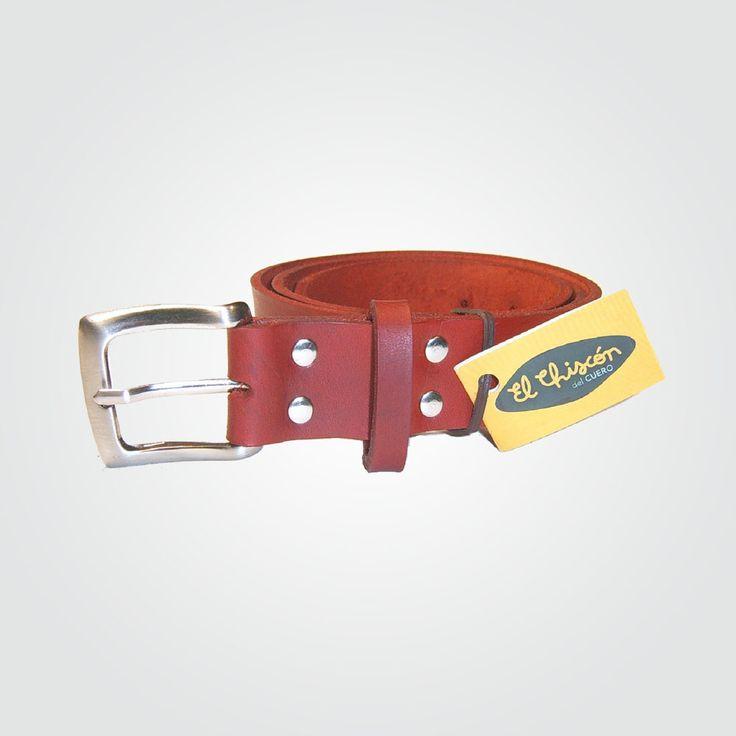 Cinturón 3 cm rojo-níquel
