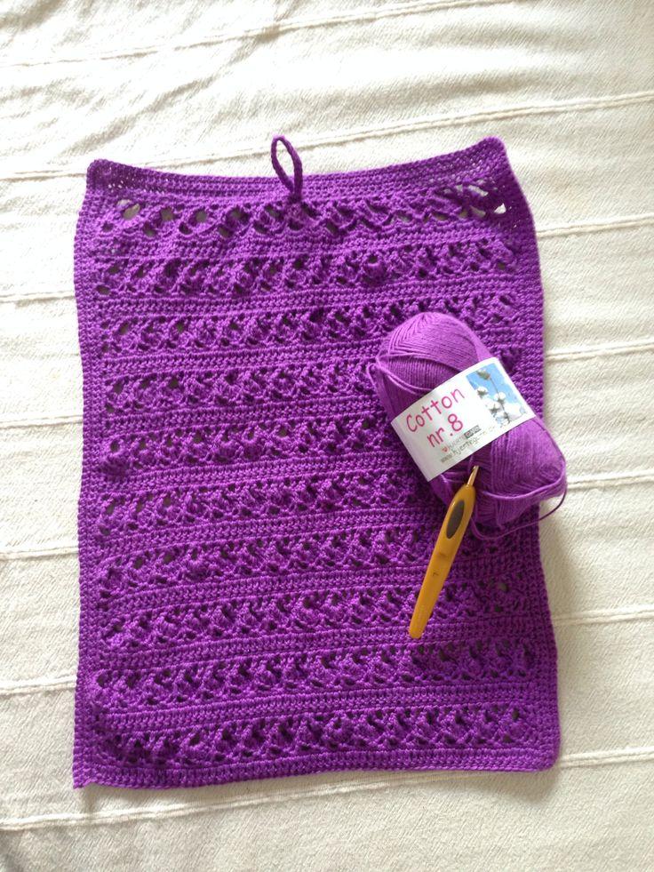 Crochet cotton towel, my own pattern. @maruttes