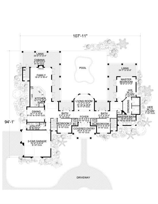 Plano de casa estilo mediterráneo