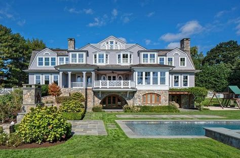 $6.995 Million Stone & Shingle Colonial Mansion In Westport, CT