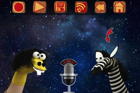 Sock Puppets ($0.00) lip-synched videos.  Add puppets, props, scenery, backgrounds & create. Hit record & the puppets automatically lip-synch to your voice.  Friends can work together with multiple puppets and create hilarious conversations. While recording simply tap a puppet and that puppet will lip-synch, tap a different puppet and switch auto lip-synching to it. Switch backgrounds to take your puppets to different places, move the puppets, props and scenery to animate them while…