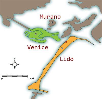 Lido di Venezia, Venice Lido was the setting for Death in Venice and the Venice Film Festival, La Bienalle di Venezia--and you can escape the tourist hordes here.