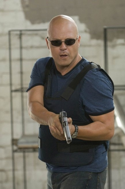Still of Michael Chiklis in The Shield......What is it about bad boys and bold heads. So sexy......