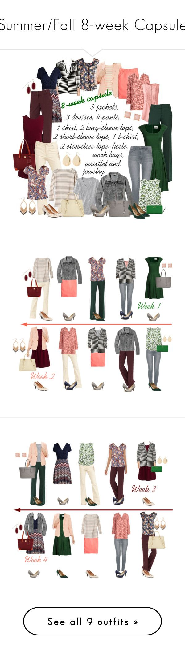 """Summer/Fall 8-week Capsule"" by kristin727 on Polyvore featuring Lands' End…"