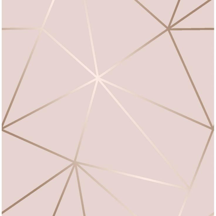 I Love Wallpaper Zara Shimmer Metallic Wallpaper Soft Pink, Rose Gold (ILW980111)