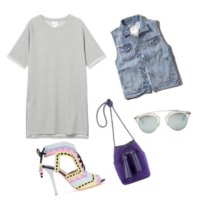 """""""Fun mood"""" by arina2193 on Polyvore featuring мода, Monki, Tom Ford, Abercrombie & Fitch, Sophia Webster и Christian Dior"""