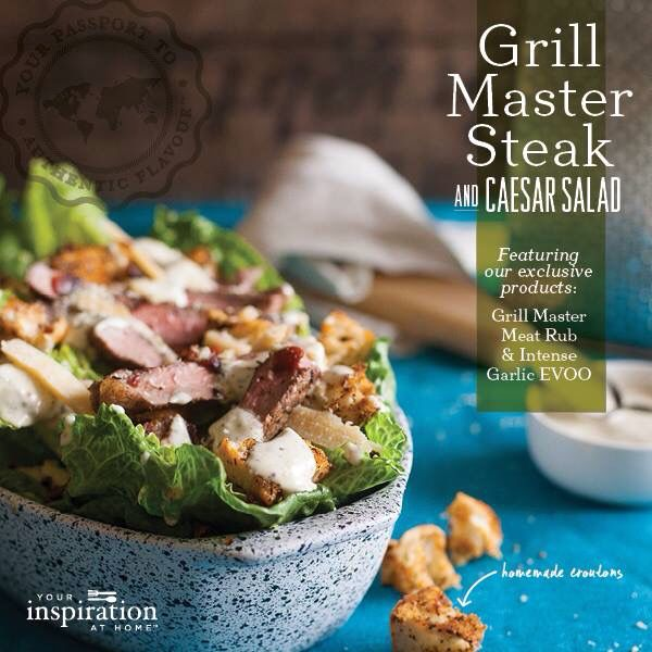 Grill Master Steak and Caesar Salad by Your Inspiration At Home. YIAH