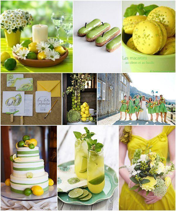 Green Wedding Ideas - lemon lime wedding ideas on French Wedding Style blog