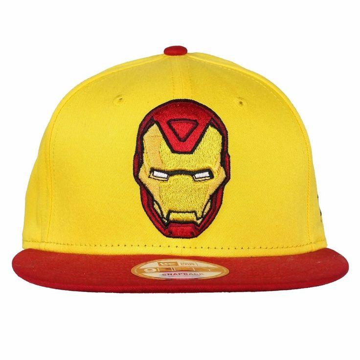NEW ERA 9FIFTY Snapback Cap REVERSE HERO IRON MAN OFFICIAL Superhero Hat #NewEra #BaseballCap