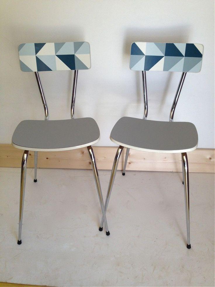 1000 id es sur le th me chaise formica sur pinterest peindre le formica peinture formica et - Sillas formica ...