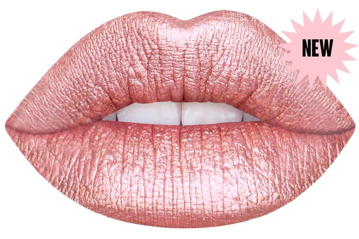 blondie rose gold liquid matte lipstick packaging by Lime Crime