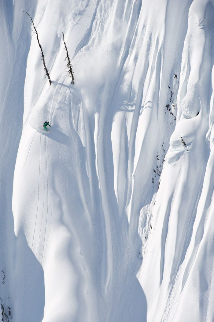 Jeremy Jones through the goal posts in Revelstoke by Oli-Gagnon - snowboarding, Canada.