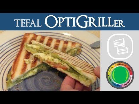 Tomate-Mozzarella Pesto Sandwich   Tefal OptiGrill - YouTube