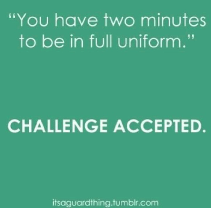 lol so i had to change shirts really fast right before we left for church today  i changed it in like 2 seconds (i had a tank top on)  my sister is standing there  was like :0 how did you do that so fast.. I was like when you are in marching band you have to be able to change really fast. :D