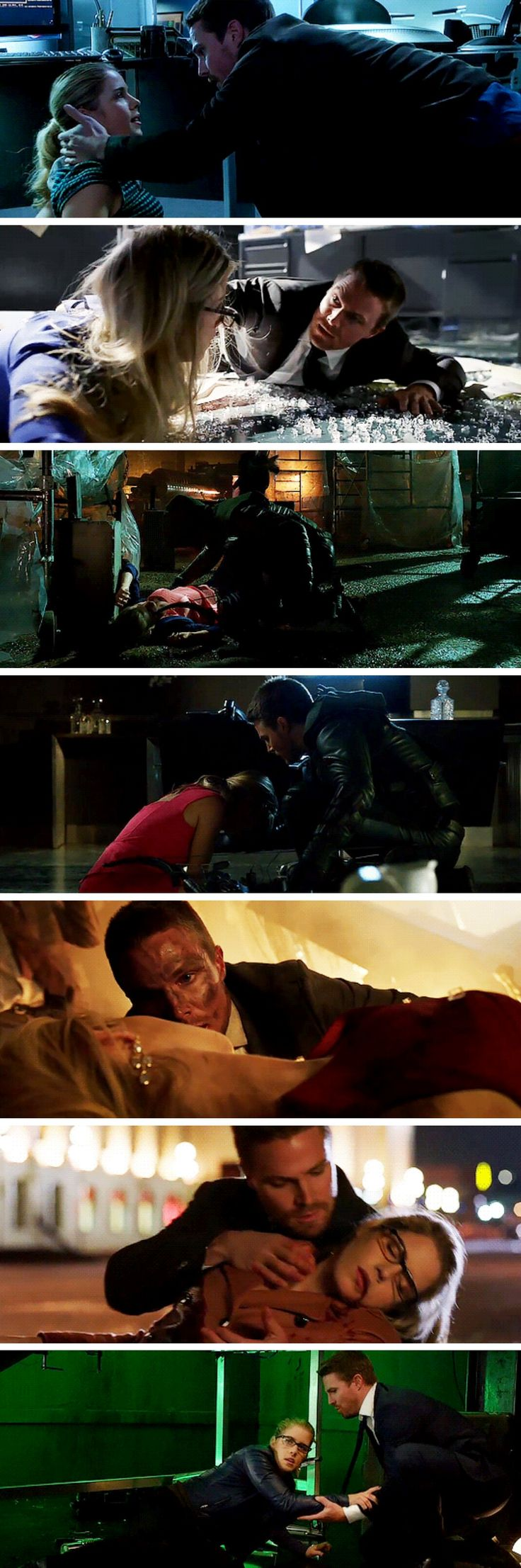 Oliver always protecting Felicity! #Olicity #Arrow #5x10