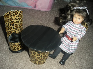 MissKristi'sCraft,Teaching: How to Make a Table and Chair Set for American Girl Mini Dolls