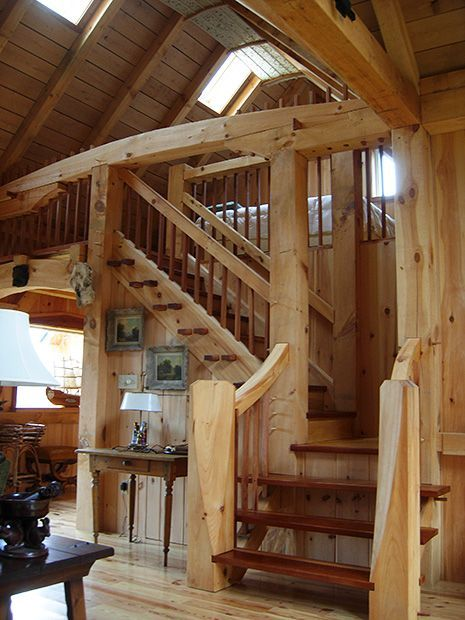 17 Best Images About Timber Frame Stairs On Pinterest