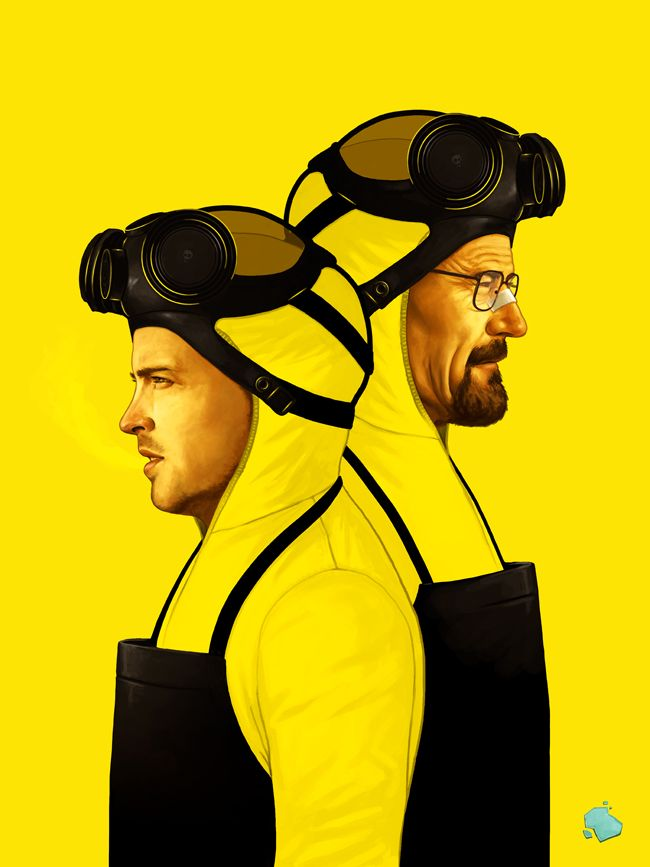 """Awesome Breaking Bad Art Exhibition :: """"The Cooks"""" by Mike Mitchell  // #MyModernMetropolis >  @Michelle Flynn Grabski Evolution"""