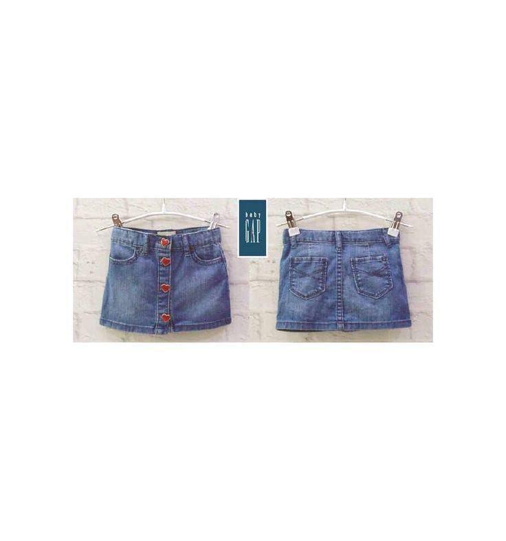 Baby GAP - Denim Skirt Love Button - Celana Bayi dan Anak - Baju Bayi & Anak Branded Import.  Baby GAP - Denim Skirt Love Button - Celana Bayi dan Anak. Rok anak tersedia dalam ukuran : 1 tahun, 18 bulan, 2 tahun, 3 tahun, 4 tahun.  Rok anak dengan kancing berbentuk hati di bagian depan.