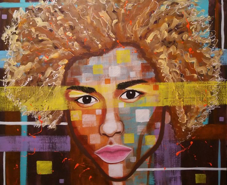 Golden Child by STEFANO acrylic painting,portrait,painter, michael lockley,fine art,art,man ,lockley,fashion,supermodel,faces moderpainting,fashionart
