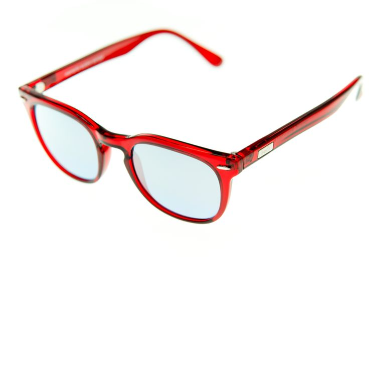 Spektre - MAS - Ruby Red with Silver Mirror Lenses. The combination is just to die for! Think of your lipstick ladies - the effect - accidently dramatic? The classic frame still stays in line with a somewhat more conventional statement...BUT the COLOR! Pow! There will be some guys out there that won't be able to stay away from this model as well.....you know who you are ;-) Bold and self confident and certainly not afraid of being an eye catcher!   100% Made in Italy