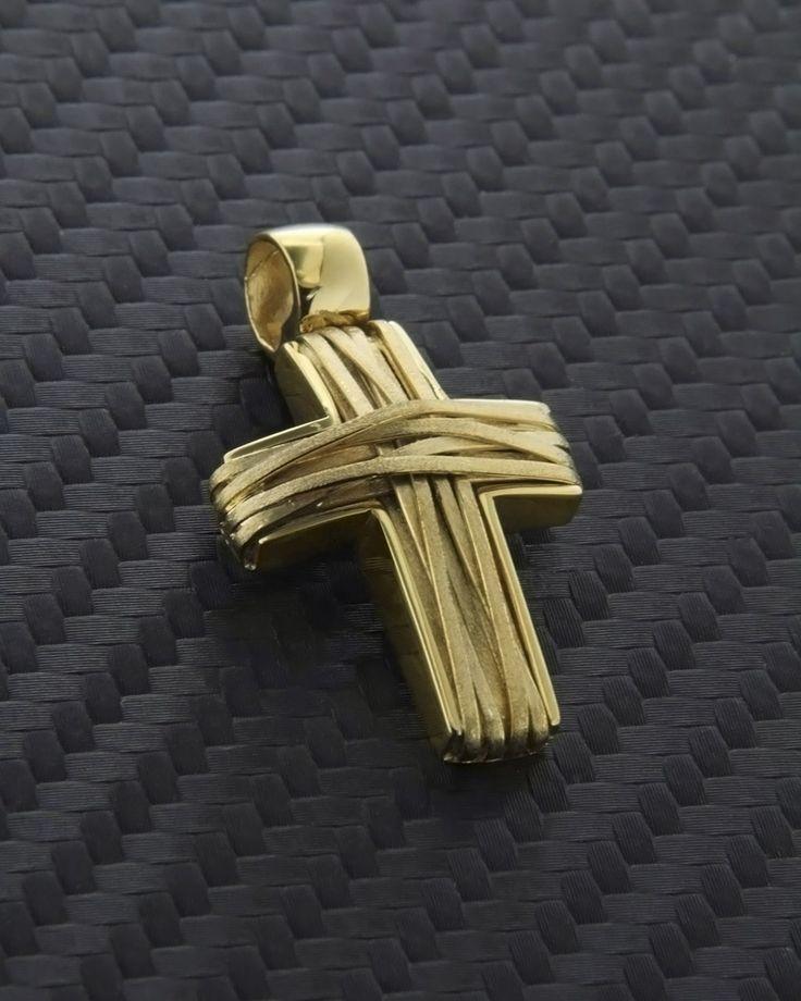Σταυρός χειροποίητος χρυσός Κ14 | eleftheriouonline.gr
