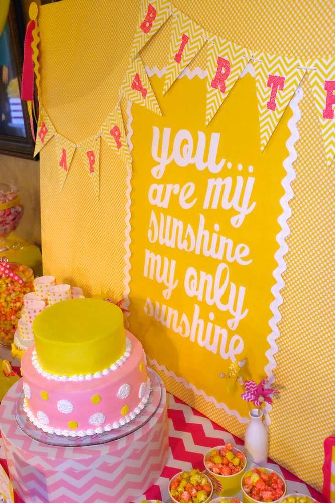 You Are My Sunshine Birthday Party Ideas | Photo 43 of 79 | Catch My Party