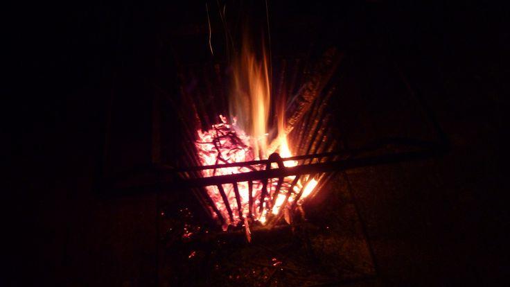 Lekker bij het vuur op de binnenplaats, met een kop warme pompoensoep of misschien een gevaarlijk lekkere Gageleer ...