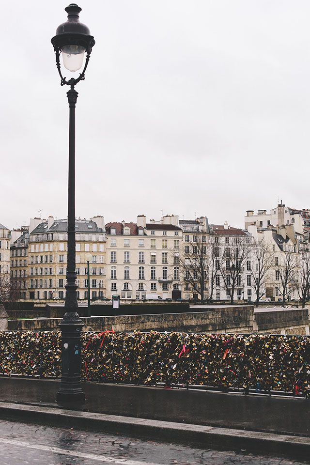 Pont des Arts in Paris, the bridge where lovers attach locks to signify their love...ahhh, only in France!
