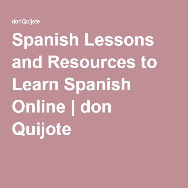 Learn Spanish online   Free Spanish lessons