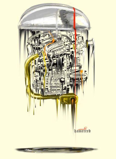 Illustration cafe racer by Hamerred #illustration #design #motorcycles #motos | caferacerpasion.com