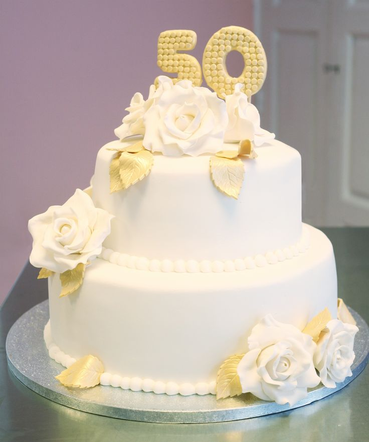 Golden wedding cake / Tarta bodas de oro