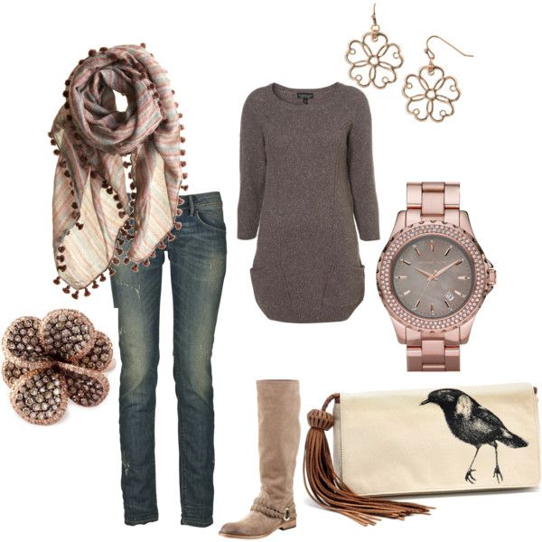 . : Outfits, Fashion, Gold Watch, Style, Fall Outfit, Closet, Scarf, Rose Gold