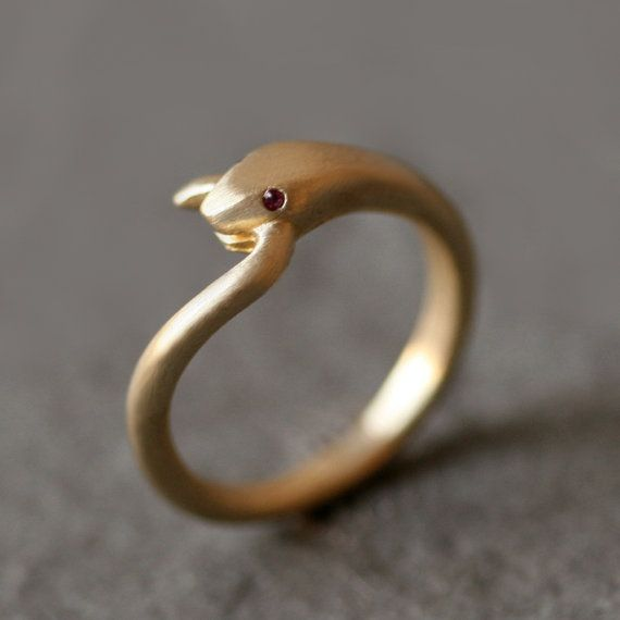 Open Mouth Snake Ring in Brass with Purple Amethyst and Diamonds - Michelle Chang on Etsy