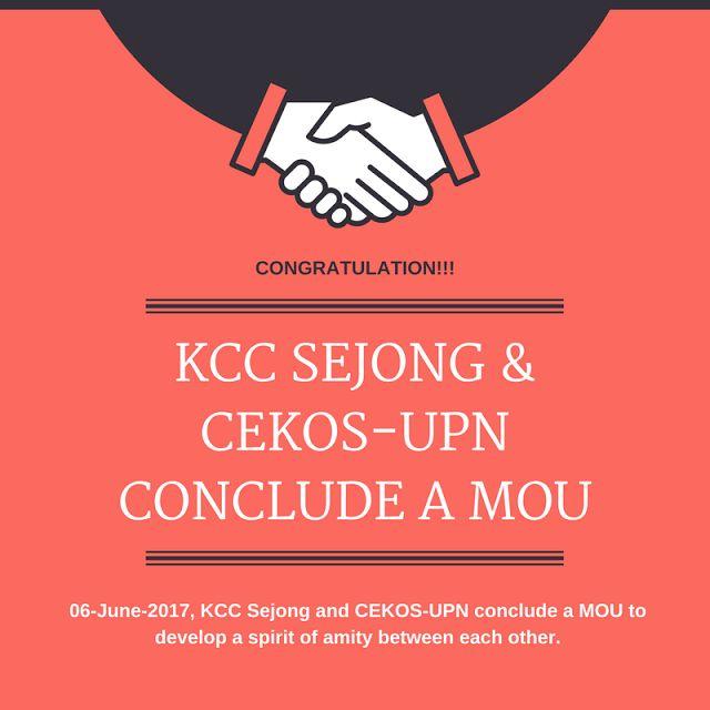 KCC Sejong dan CEKOS-UPN mengakhiri MOU