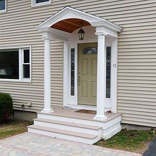 Portico ideas ideas for the home pinterest flats for Portico porch designs
